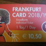 【ドイツ】フランクフルト中央駅でフランクフルト1日乗車券購入方法