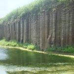 【台湾】澎湖島で隆起した池東大菓葉玄武岩