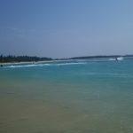 【台湾】台湾澎湖島NO.1海水浴場は青い空白い雲の隘門沙灘