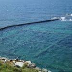【台湾】澎湖島の池西岩瀑にある自然の生け簀